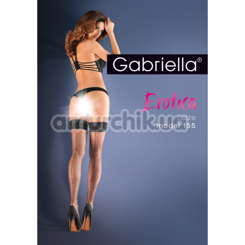 Чулки Gabriella Erotica Calze 155, чёрные