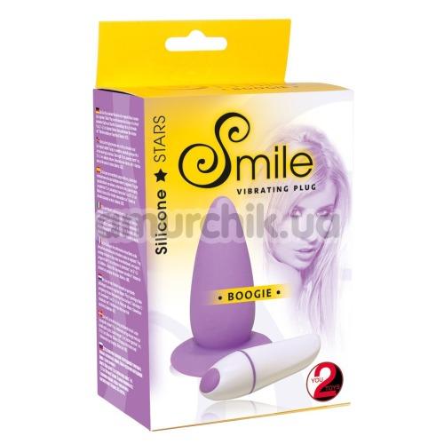 Анальная пробка с вибрацией Smile Boggie, фиолетовая