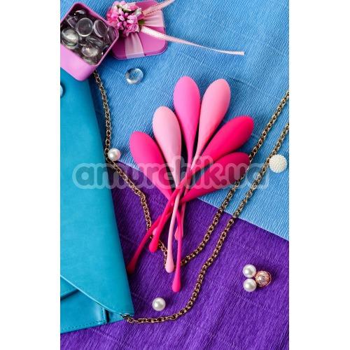 Набор из 6 вагинальных шариков Eromantica K-Rose, розовый