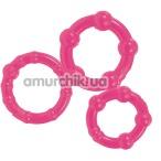 Эрекционные кольца Stay Hard Three Rings, розовые