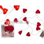 Гирлянда в виде сердечек Roxan, красная - Фото №1
