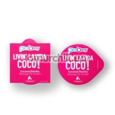 Свеча для массажа PicoBong Livin' La Vida Coco - кокос и ваниль - Фото №1
