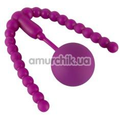 Вагинальный расширитель с тренажером Кегеля Intimate Spreader Pussy Gym, фиолетовый - Фото №1