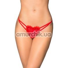 Трусики-стринги с сердечком G-String 2480, красные