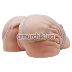 Искусственная вагина и анус с вибрацией Baile в шортах, телесная - Фото №1
