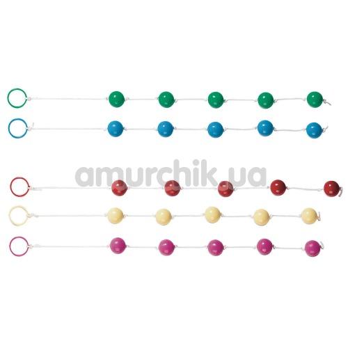 Анальные шарики Clear Anal Beads в ассортименте - Фото №1