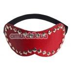 Маска на глаза с заклепками sLash Style Leather Mask, красная - Фото №1