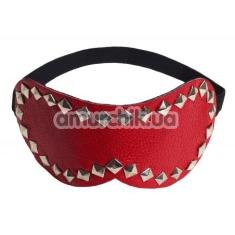 Маска на глаза с заклепками sLash Style Leather Mask, красная