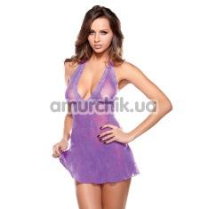 Комплект Tease фиолетовый (модель B43): комбинация + трусики-стринги - Фото №1