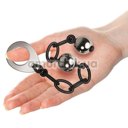 Вагинальные шарики Rocks-Off Love In Chains Lust Linx Sensual Surrender, серебряные