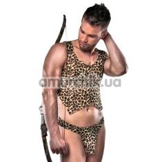 Костюм охотника Passion 023, леопардовый: трусы + майка - Фото №1