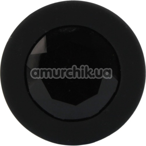 Анальная пробка с черным кристаллом SWAROVSKI Zcz, черная