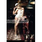 Чулки Champagne Filigree Net Stockings белые (модель B900) - Фото №1