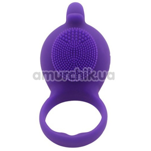 Виброкольцо Silicone Love Ring Dolphin, фиолетовое - Фото №1