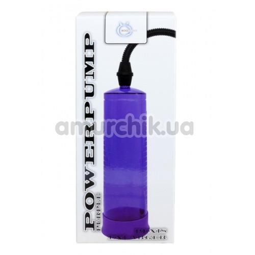 Вакуумная помпа Power Pump Penis Enlarger, фиолетовая