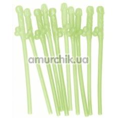 Трубочки для напитков Dicky Sipping Straws Glow-In-The-Dark, светящиеся в темноте 10шт - Фото №1