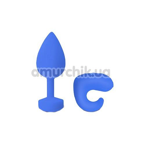 Анальная пробка с вибрацией Gplug большая, ярко-синяя