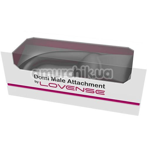 Насадка для вибромассажеров Lovense Domi/Domi 2 Male Attachment, черная