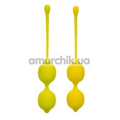 Набор вагинальных шариков Kegel Training Set Lemon Squeeze Relax Repeat, желтый - Фото №1