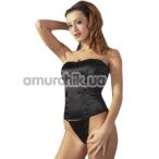 Комплект Cottelli Collection 2610590 черный: корсаж + трусики-стринги - Фото №1