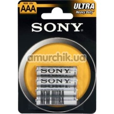 Батарейки Sony Ultra Heavy Duty AAA, 4 шт - Фото №1