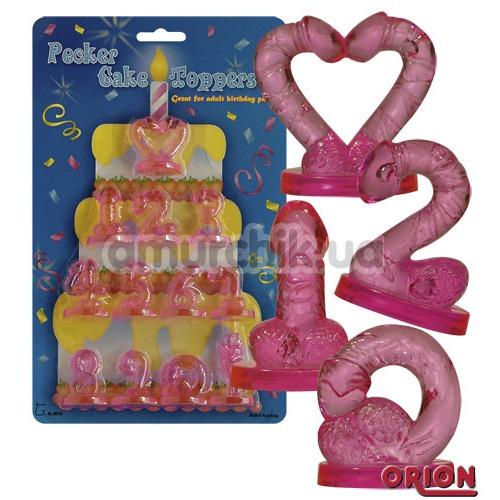 Цифры на праздничный торт Pecker Cake Toppers