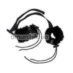 Наручники Bad Kitty Plush Handcuffs, черные - Фото №1
