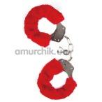 Наручники MAI No.38 Metal Furry HandCuffs, красные - Фото №1