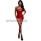 Мини-платье лаковое D&A, красное - Фото №1