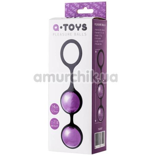 Вагинальные шарики A-Toys Pleasure Balls 3.1 см, фиолетовые