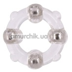 Эрекционное кольцо Stud Ring With Beads, прозрачное