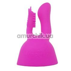Насадка на универсальный массажер Lesparty Rabbit Butterfly, розовая - Фото №1