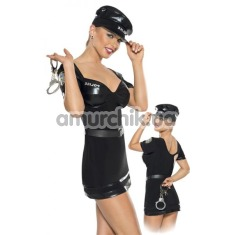 Костюм полицейского Roxana Policewoman Uniform: платье + фуражка + наручники - Фото №1