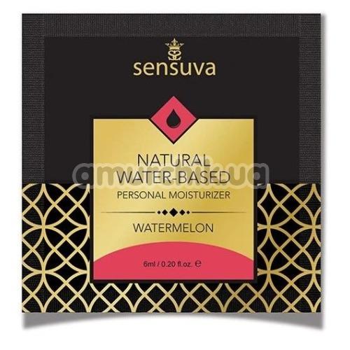 Лубрикант Sensuva Natural Water-Based Watermelon - арбуз, 6 мл