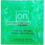 Возбуждающее масло Sensuva On Female Arousal Oil Hemp, 0.5 мл - Фото №1