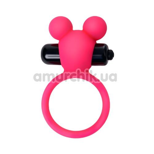 Виброкольцо A-Toys Cock Ring 768018-9, розовое - Фото №1