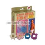 Набор эрекционных колец Magic Stretch Ring Set, 4 шт - Фото №1