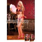 Комплект Black-Hot Pink Bikini Set With Lacing: бюстгальтер + трусики-стринги