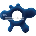 Эрекционное кольцо Fun Factory Rain, синее - Фото №1