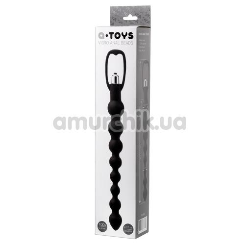 Анальная цепочка с вибрацией A-Toys Vibro Anal Beads 761304, черная