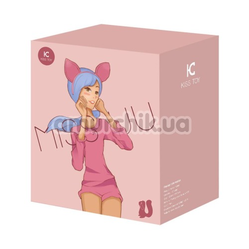 Симулятор орального секса для женщин с вибрацией KissToy Miss UU, розовый