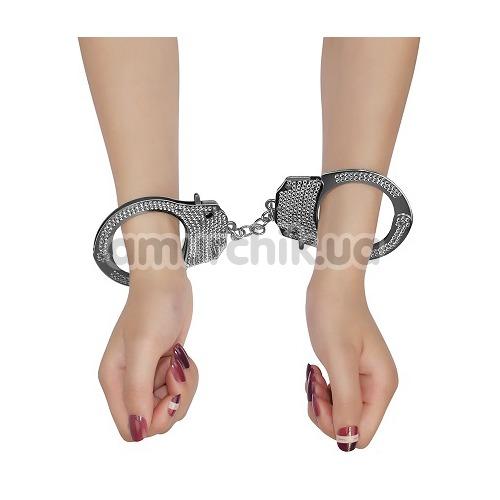 Наручники Fetish Pleasure Diamond Handcuffs, серебристые