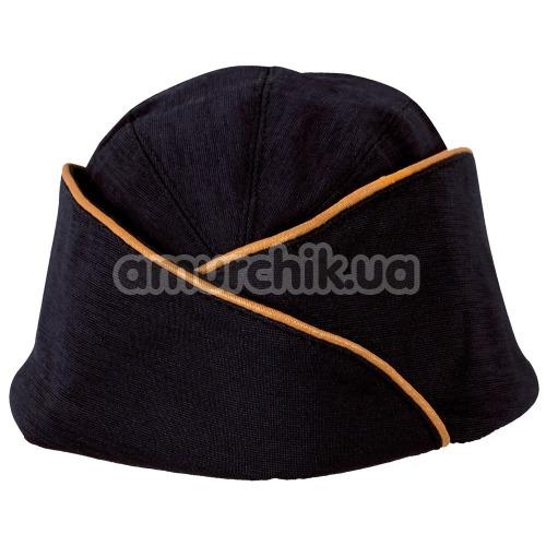 Костюм стюардессы Cottelli Collection Costumes 2470314 синий: платье + шапочка + шарфик