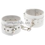 Наручники sLash Leather Rastraints Hand Cuffs, белые - Фото №1