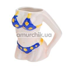 Чашка Сексуальная Болельщица, голубая - Фото №1