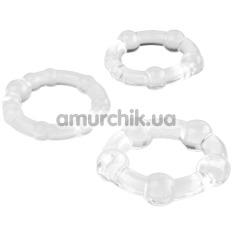 Набор из 3 эрекционных колец A-toys 769004, прозрачный - Фото №1