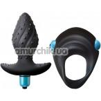 Набор из 2 игрушек Rocks-Off Men-X IBEX, черный - Фото №1