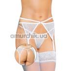 Комплект Garterbelt белый: пояс + трусики-стринги (модель 3318) - Фото №1