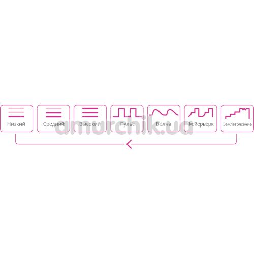 Вибратор-пульсатор для точки G Lovense Osci, розовый