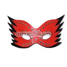Маска Spade с заклепками и каймой, красная - Фото №1